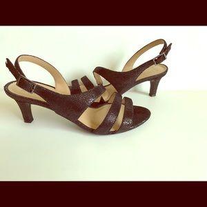 Naturalizer strappy black sandals.